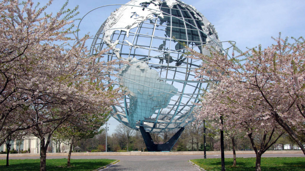 Quuens Nyc Globe Sculpture