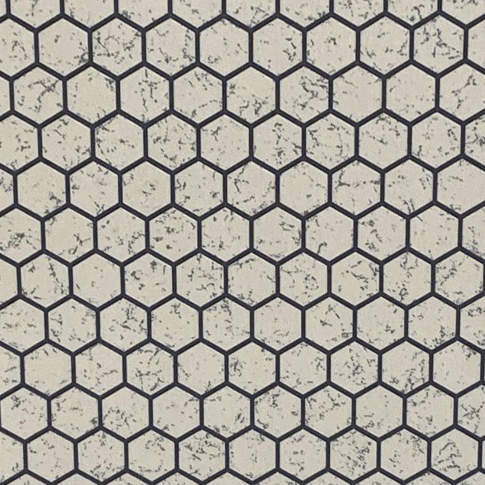 Tarkett Black and Beige Hex Tile