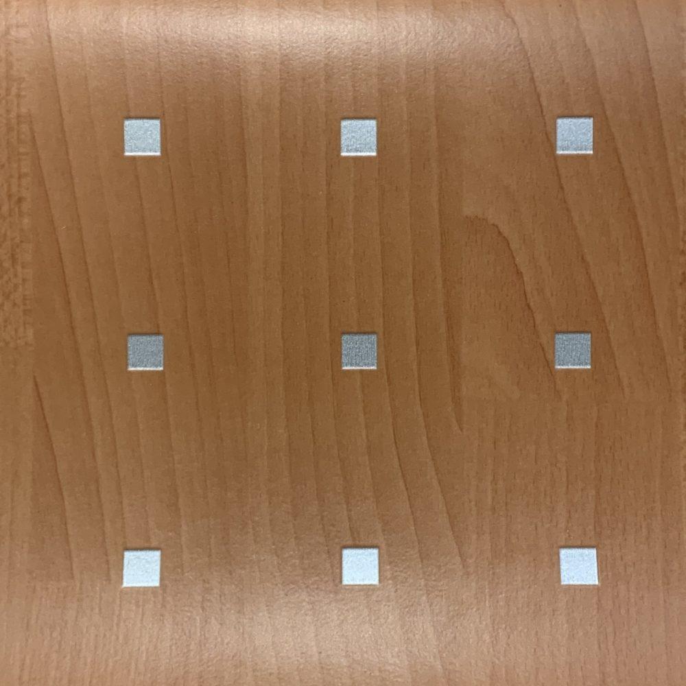Wood/Silver Studded Lino Polysteel