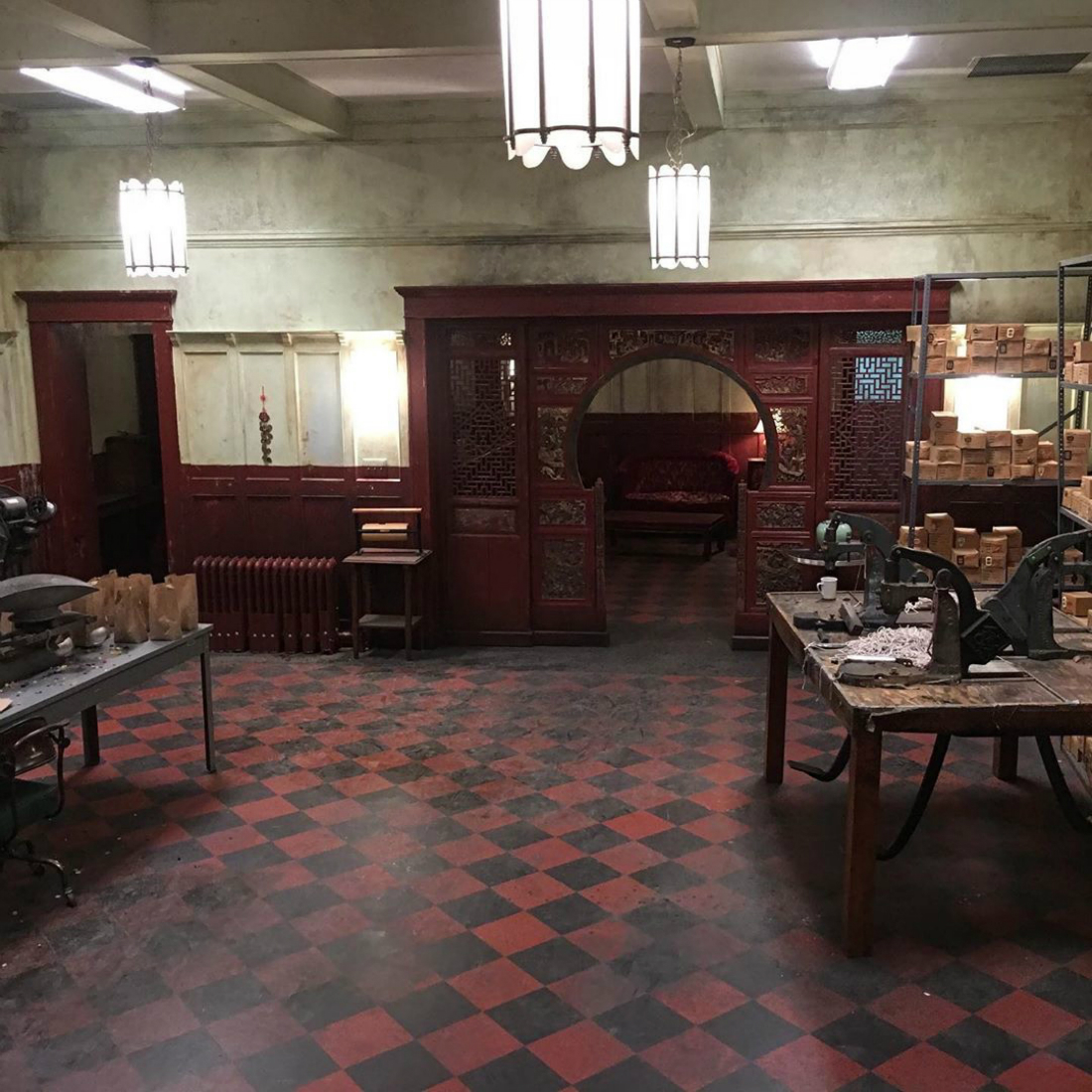 The Marvelous Mrs Maisel Set Decoration Carpet Time Nyc Chinatown Club Tile