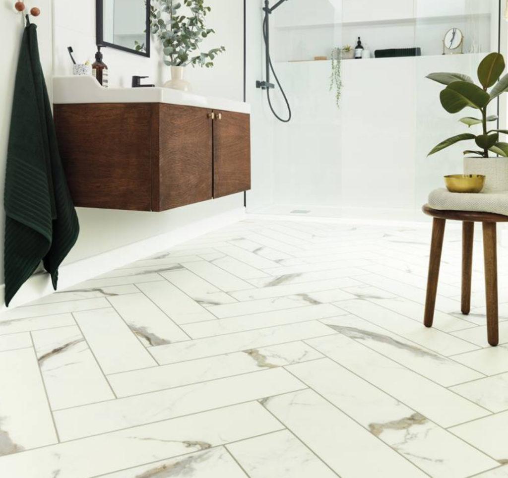 Carpet Time Nyc Flooring Karndean Brunella Marble Bathroom 1