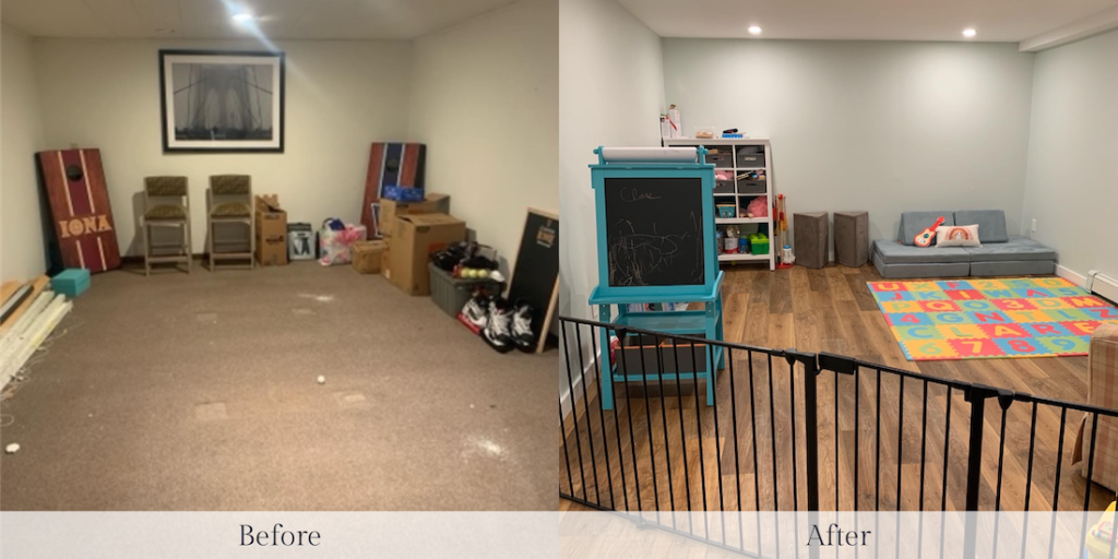 Bedford Ny Basement Flooring Before And After